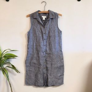 Adrienne Vittadini Chambray Linen Dress